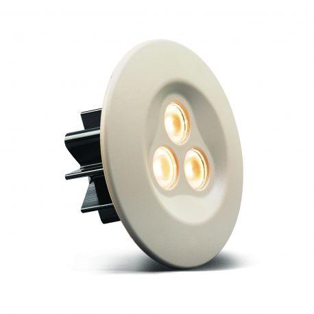 Lampa Spot LED SLE06 12/24V, biała oprawka, barwa światła: ciepły biały