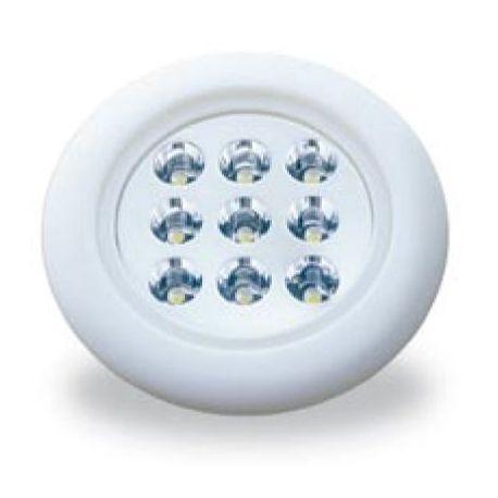 Lampa Spot LED Jokon, oprawa biała, barwa światła: zimny biały