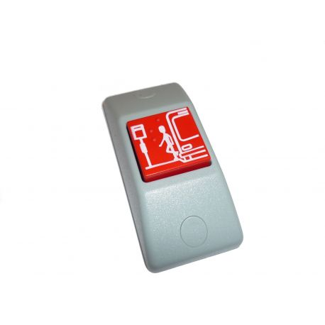 Przycisk STOP P167- obudowa szara RAL 7043, przycisk czerwony RAL 3000 + oznakowanie Braille'a