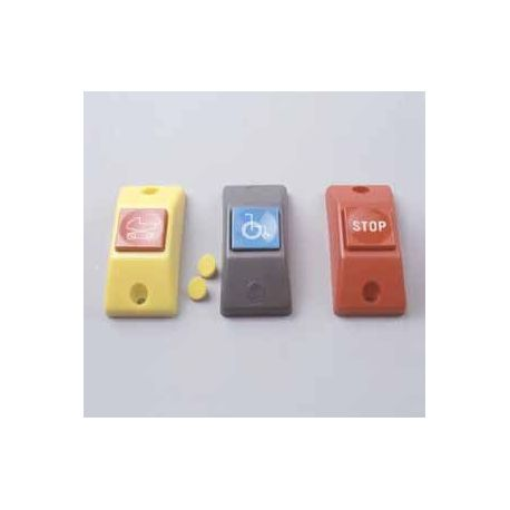"""Przycisk """"Inwalida"""" P167- obudowa szara RAL 7043, przycisk niebieski RAL 5015"""