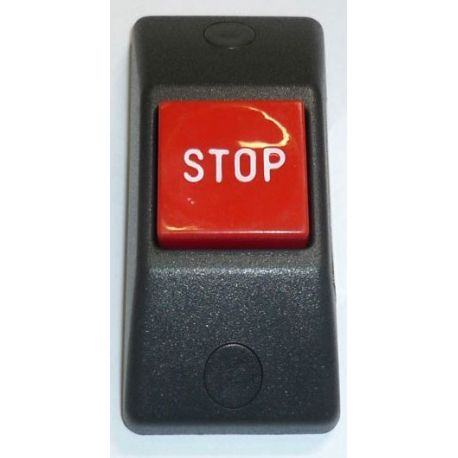 Przycisk STOP P167e- obudowa czarna, przycisk czerwony RAL 3000