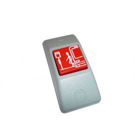 Przycisk STOP P167e- obudowa szara RAL 7043, przycisk czerwony RAL 3000