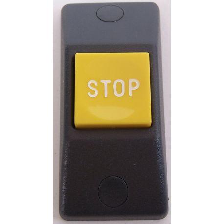 Przycisk STOP P167e- obudowa szara RAL 7043, przycisk zółty RAL 1018