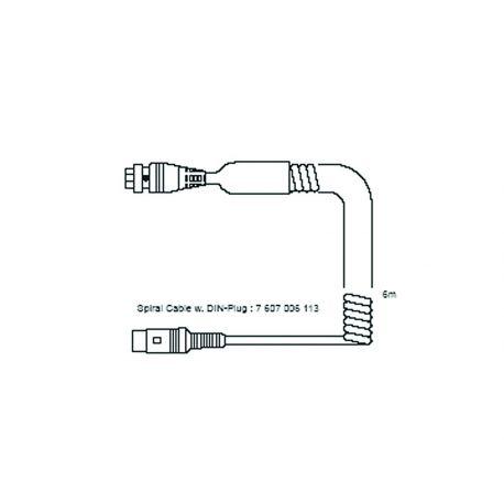 Przewód spiralny z wtyką DIN (6m) do mikrofonu BHM09