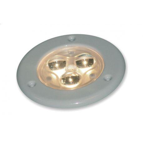 Lampa 3 LED 24V, oprawa biała Tripod, ciepła barwa
