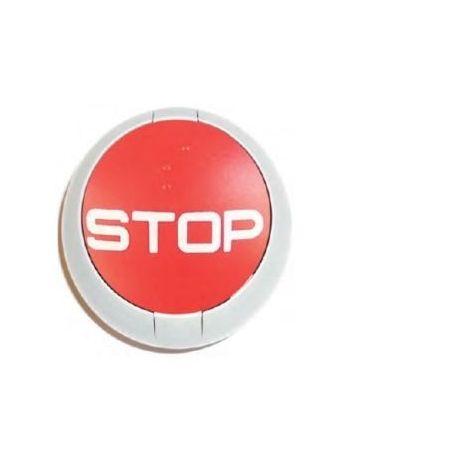 Przycisk systemy EasyStop P386 czerwony (fi35) z mocowaniem