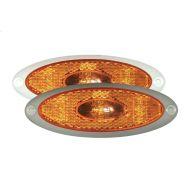 Obrysówka pomarańczowa LED 24V biała ramka