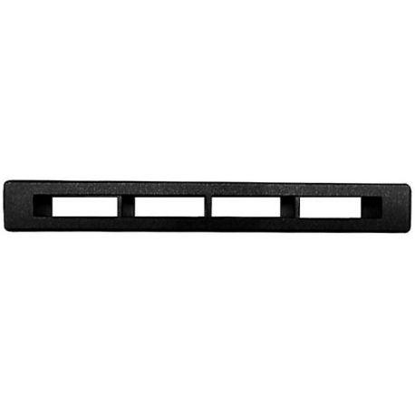 Kratka nawiewu P381 czarna. Rozmiar 112,5x15mm